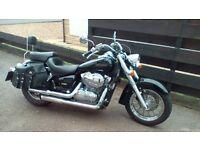 Honda Shadow 750cc motorbike
