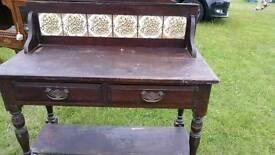 Vintage oak washstand £70