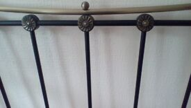 Black Metallic super king size headboard. (FORT WILLIAM)