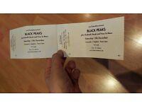 2 x's Black Peaks Concorde 2 tickets