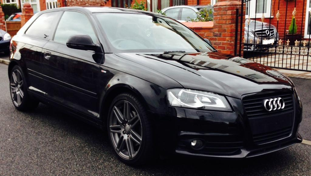 2010 59 audi a3 tdi black edition 170 3 door diesel s line 6 speed in trafford manchester. Black Bedroom Furniture Sets. Home Design Ideas