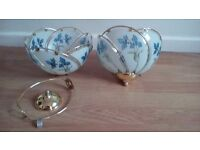 2 CEILING GLASS LIGHT SHADES