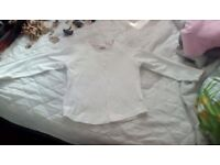 T-SHIRT GIRL'S NEXT WHITE LONG SLEEVE AGE 4-5 YEARS USED EXCELLENT CONDITION