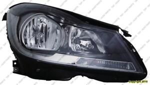 Head Lamp Passenger Side Halogen Black Housing Coupe Without Cornering Lamp High Quality Mercedes C-Class 2012-2017