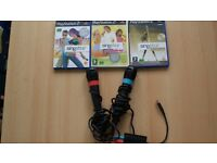 3 PLAYSTATION 2 SINGSTAR WITH TWO MICROPHONES