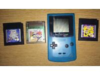 Nintendo GameBoy Color Teal Console Bundle