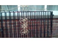 Gates for driveway, heavy solid black & gold.