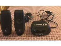 Logic computer speakers and Radio Alarm Clock hardly ever used, in very good condition