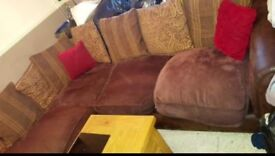 Two large L shape sofas left and right