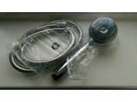 Shower head with pipe, holder and soap dish