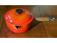 Le Creuset pan with lid. Size 18 (1.5 litres) VERY GOOD CONDITION