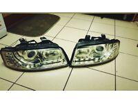 Audi A4 B6 | A4 | 80 B4 R8 Style LED Headlamps | Xenon Projector Headlights
