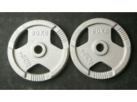 2 x 20kg Olympic Tri Grip Weight Plates