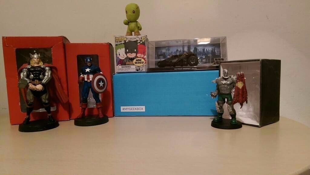 Marvel collectors figures and DC Figures.
