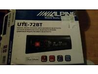 Alpine media usb aux bluetoolh stereo