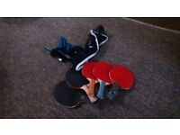 FREE 5 Table tennis bats, quite good condition, and a table tennis net