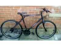 Mens 18 speed black mountain bike