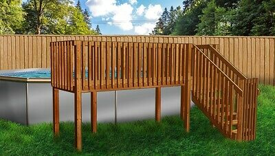 4'x16' DIY Deck, Fence, Ladder & Enclosure Gate Kit, SWIMMING POOL ENTRY SYSTEM