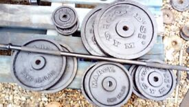 Weights barbell 5 ft 75 kg in total