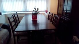 Dining table and 4 chairman