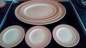 Contemporary platters, cake plates.