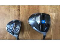 Taylormade SLDR driver and 3 wood