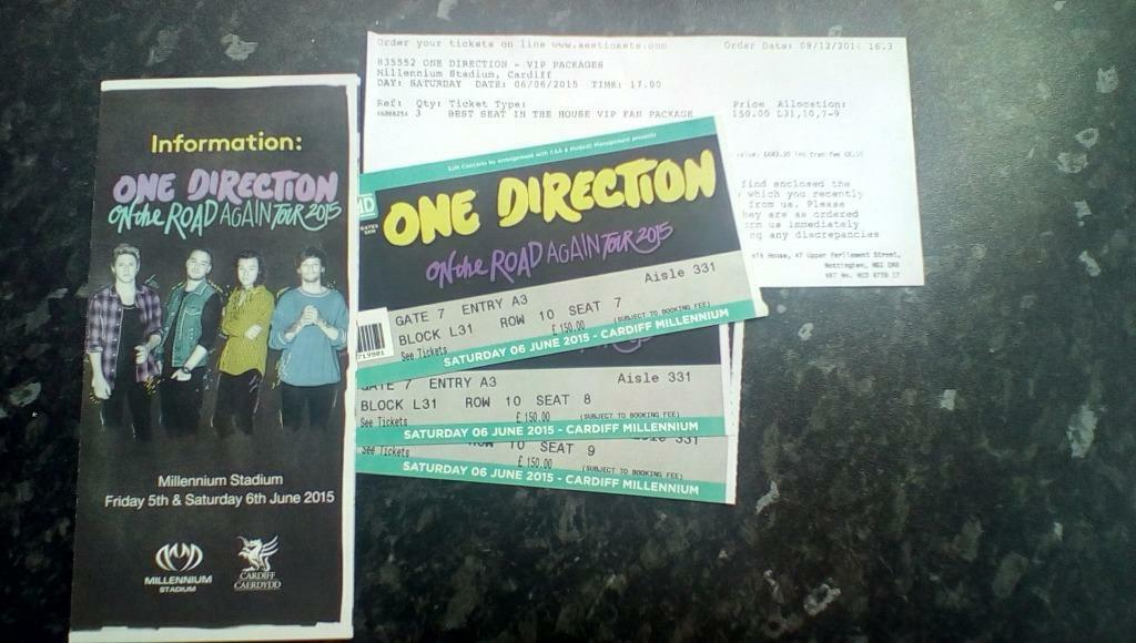 3 x vipmake an offer direction vip best seat in the house fan one direction vip m4hsunfo