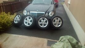 "16"" Alloy wheels, part worn tyres."