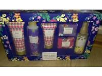 British Bloom bath and body gift set.