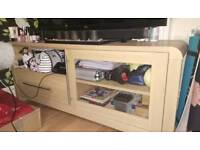 Tv cabinet unit stand oak effect