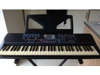 Yamaha Portatone PSR 220 Electronic Keyboard with Sturdy Adjustable Height Stand & Manual