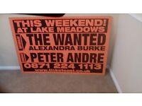 Music Advertising Sign