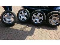 """GENUINE AUDI 16"""" ALLOYS AND TYRES"""