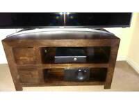 Mango wood tv stand