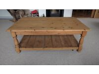 Lovely reclaimed antique pine coffee table