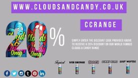 For a limited time only guys. Get 20% off our Clouds & Candy Range