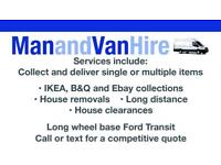 CHEAP VAN AND MAN, VAN HIRE, REMOVALS, SAME DAY DELIVERY