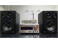 ONKYO CD Receiver CR-505DAB FM/DAB RADIO,CD,MP3, AUX, Speakers Panasonic SB-PMX2