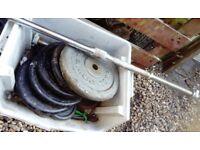 cast iron weights set 4 x 10 kg ,barbell bar 5 ft