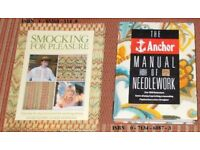 CRAFT BOOKS SMOCKING FOR PLEASURE AND MANUAL OF NEEDLEWORK BOOK.