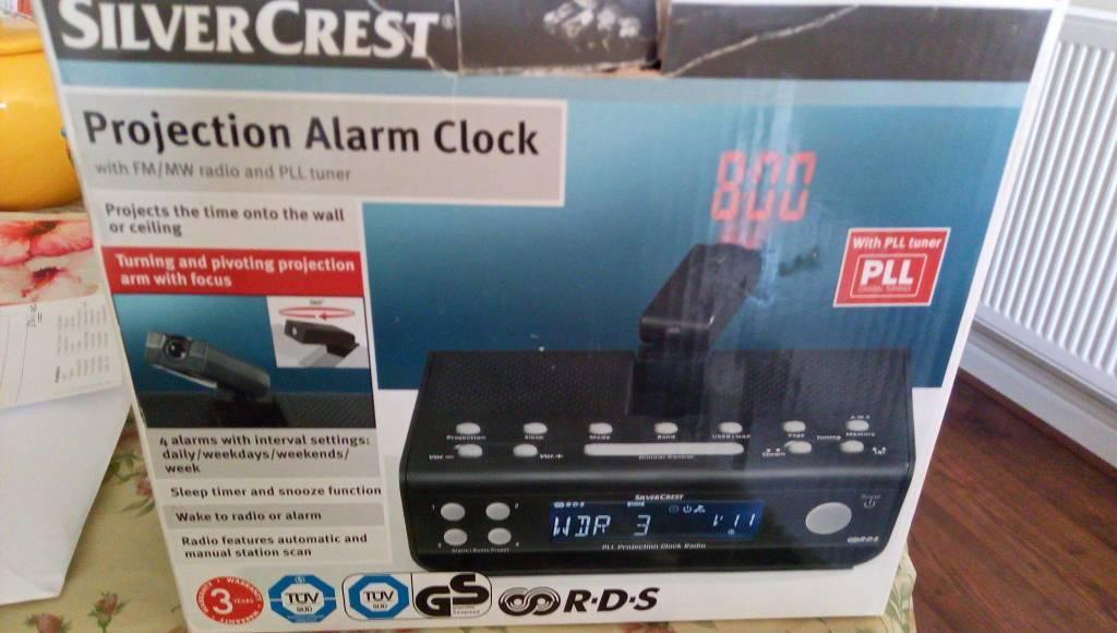 Alarm Clock Radio Time Wall Ceiling