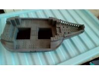 LEGO BOAT GREY AND BLACK EXCELLENT CONDITION