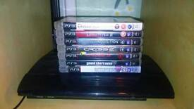 PS3 Super Slim 500GB with Games