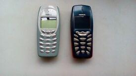 Nokia original classic mobile phones. In good working order.