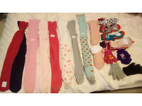Girls TIGHTS & SOCKS & GLOVES age 2 to 5, or shoe size from 3 to 11, Used but still some wear left