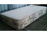 single divan bed base. In good condition.