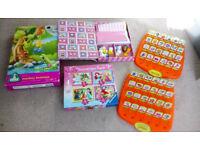 KIDS TOYS Bundle Girls 3-5 years:Guess Who, Hello Kitty,Monkey Business,Disney Princess Jigsaw