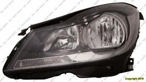 Head Light Driver Side Halogen Black Housing Coupe Without Cornering Lamp High Quality Mercedes C-Class 2012-2017