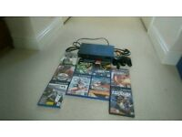 PS2. PlayStation 2 and 8 games