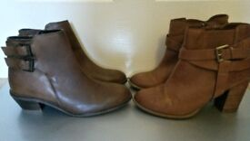 2 Pairs Of Womens Leather Boots NEXT/JASPER CONRAN Size 6 (39)